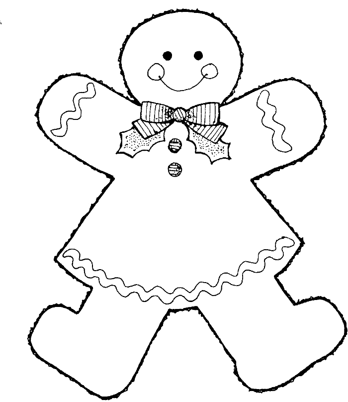 gingerbread coloring book pages - photo#16