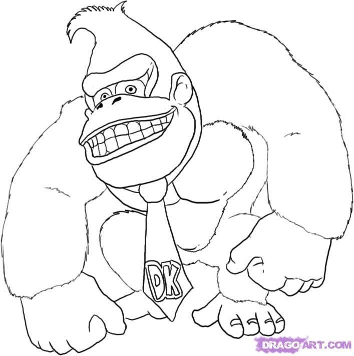 King Kong Coloring Page Coloring