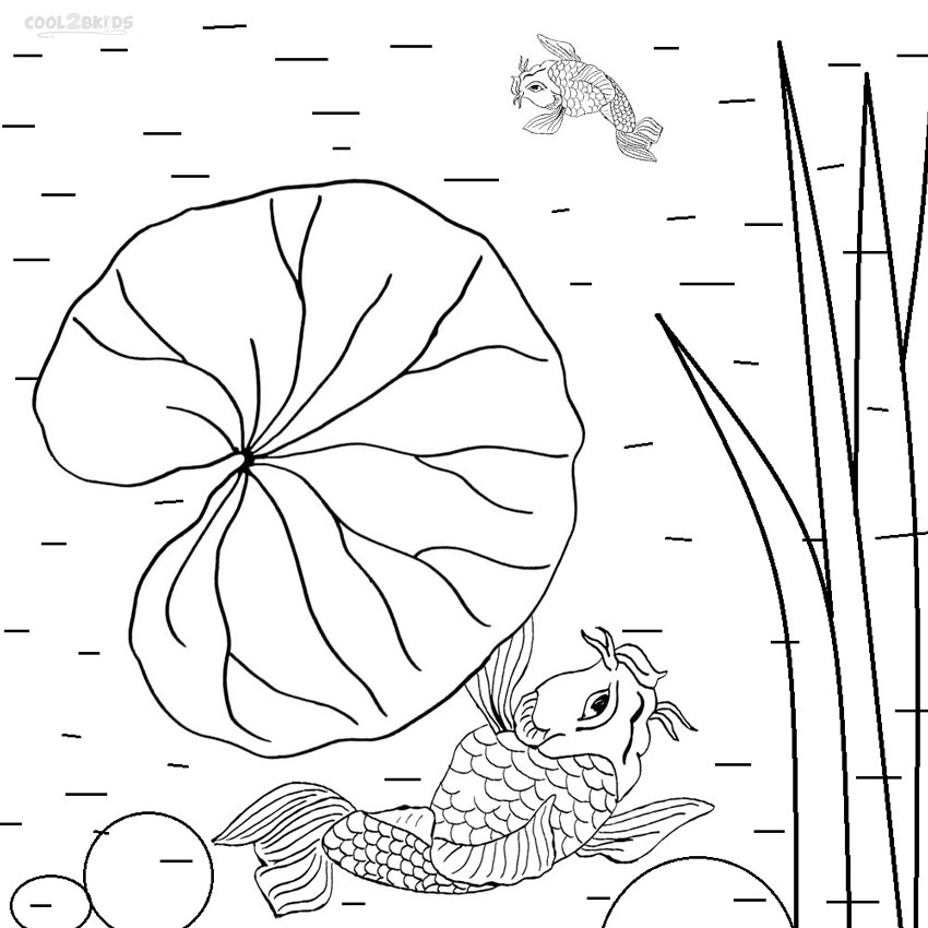 Lily Pad Coloring Page AZ Coloring