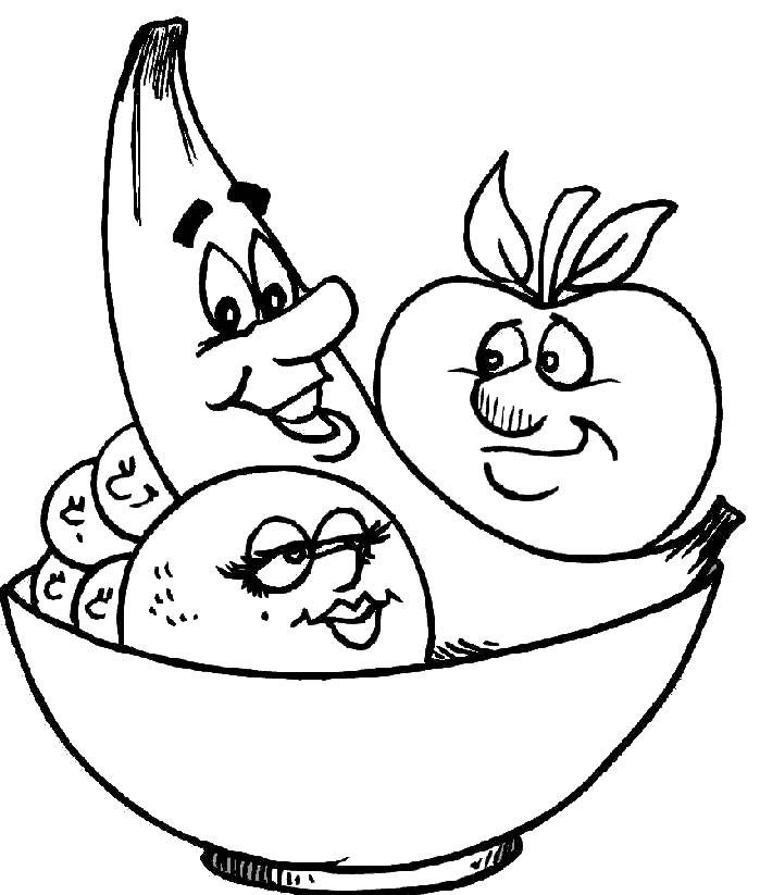 Coloring pages fruit and vegetables - picture 11