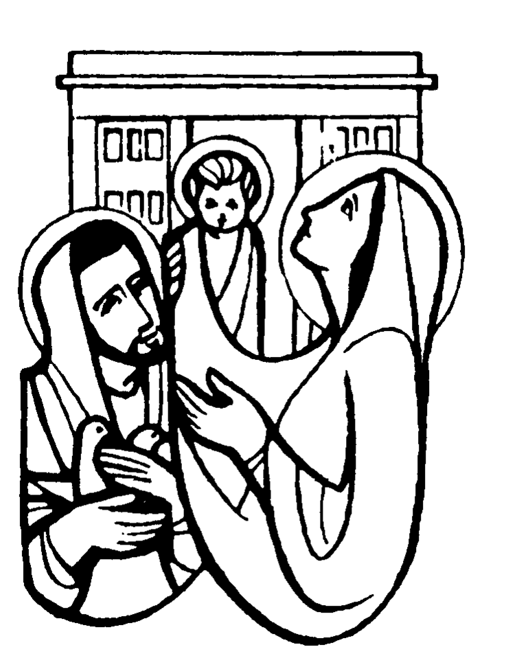 presentation of the lord coloring page - simeon and anna coloring page az coloring pages