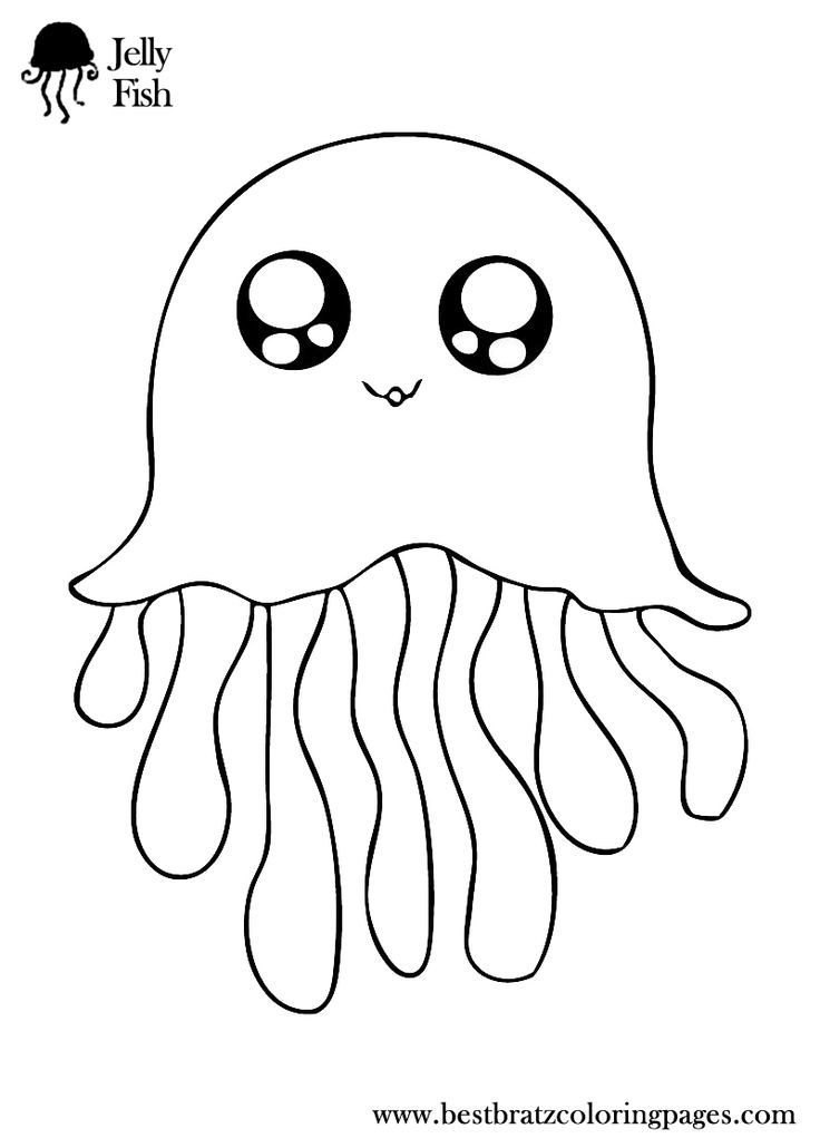 Coloring Pages Of Jellyfish Coloring