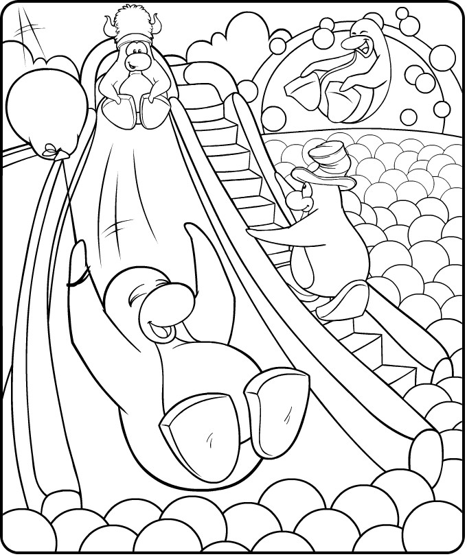 club penquin coloring pages - photo#30