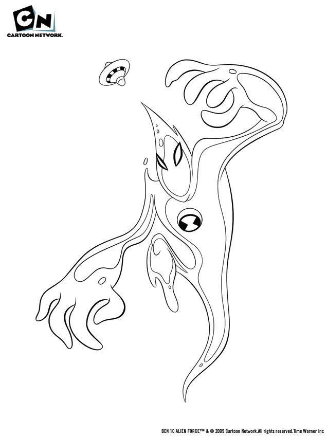 Ben 10 alien force coloring pages swampfire az coloring pages - Coloriage ben 10 ...