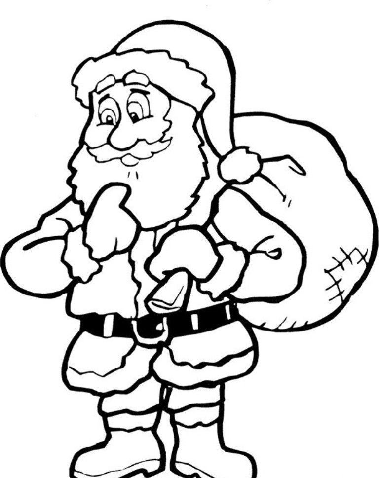 Santa Claus Printable Coloring Home