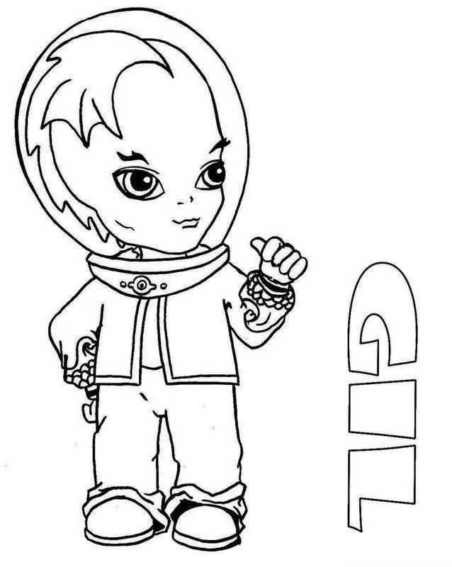 Print Gil Webber Little Boy Monster High Coloring Page Or
