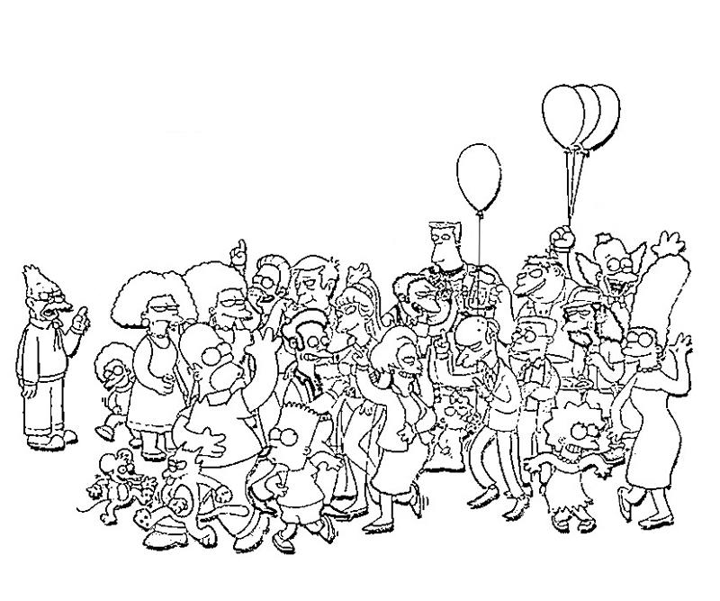 the simpsons coloring book pages - photo#34