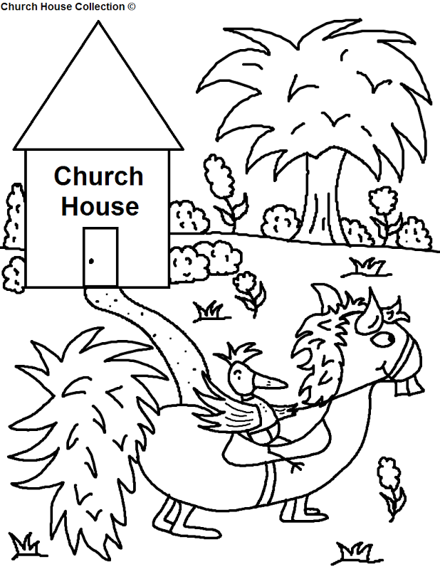 Coloring Pages For Church | Top Coloring Pages