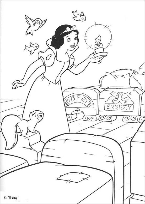 Snow White and the seven dwarfs coloring pages - Dwarfs' house