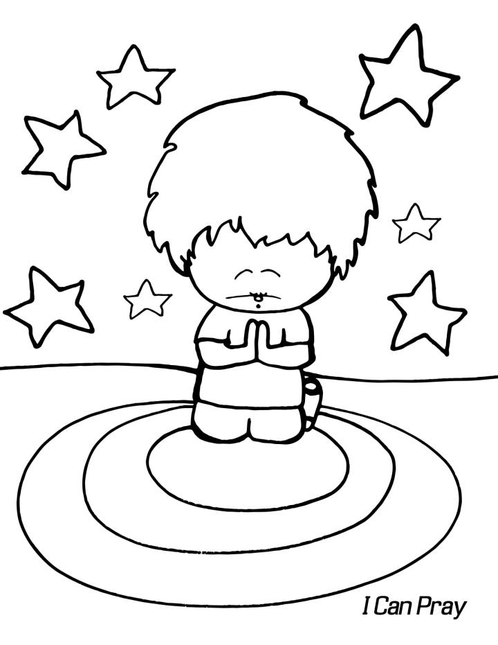 Child Praying Coloring Page Coloring Home Child Praying Coloring Page