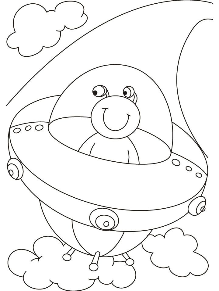 Ufo Coloring Pages - Coloring Home