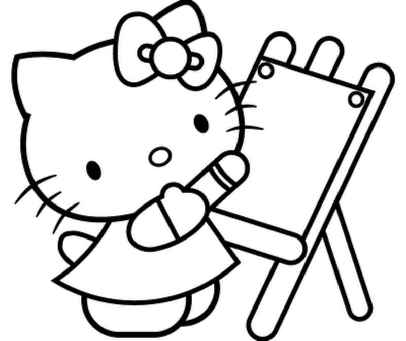 Black And White Hello Kitty Pictures - Coloring Home