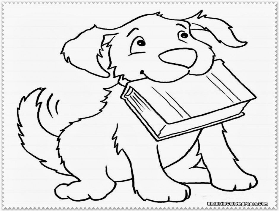 Realistic Dog Coloring Pages Free Coloring Pages 164097