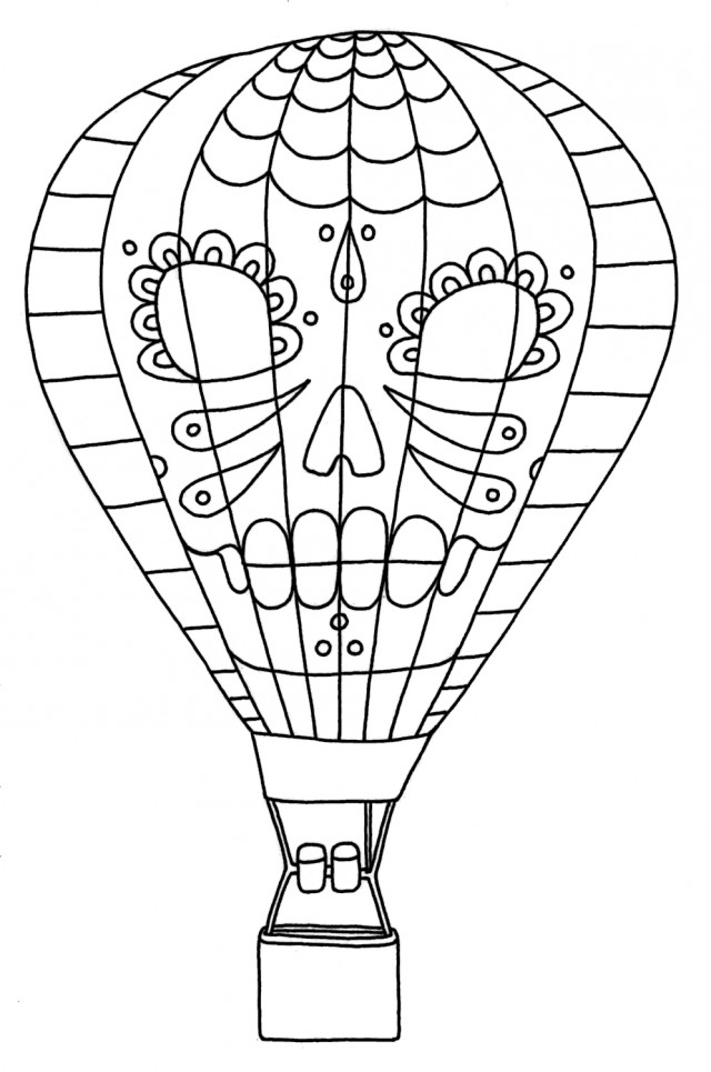 Yucca Flats N M Wenchkin 39 S Coloring Pages Dia De Los Hot Air ...