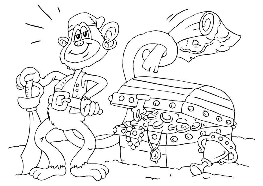 Coloring page treasure chest - img 25976.