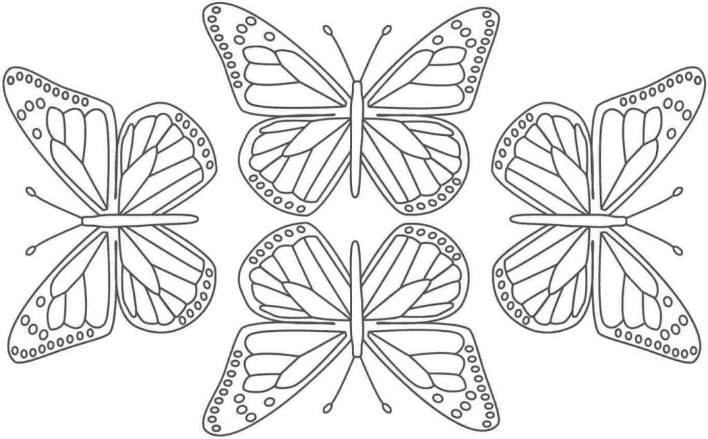 animal coloring free printable butterfly wall stencils