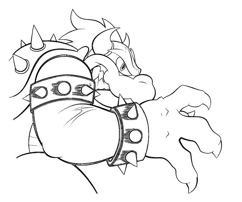 7 Bowser Coloring Page