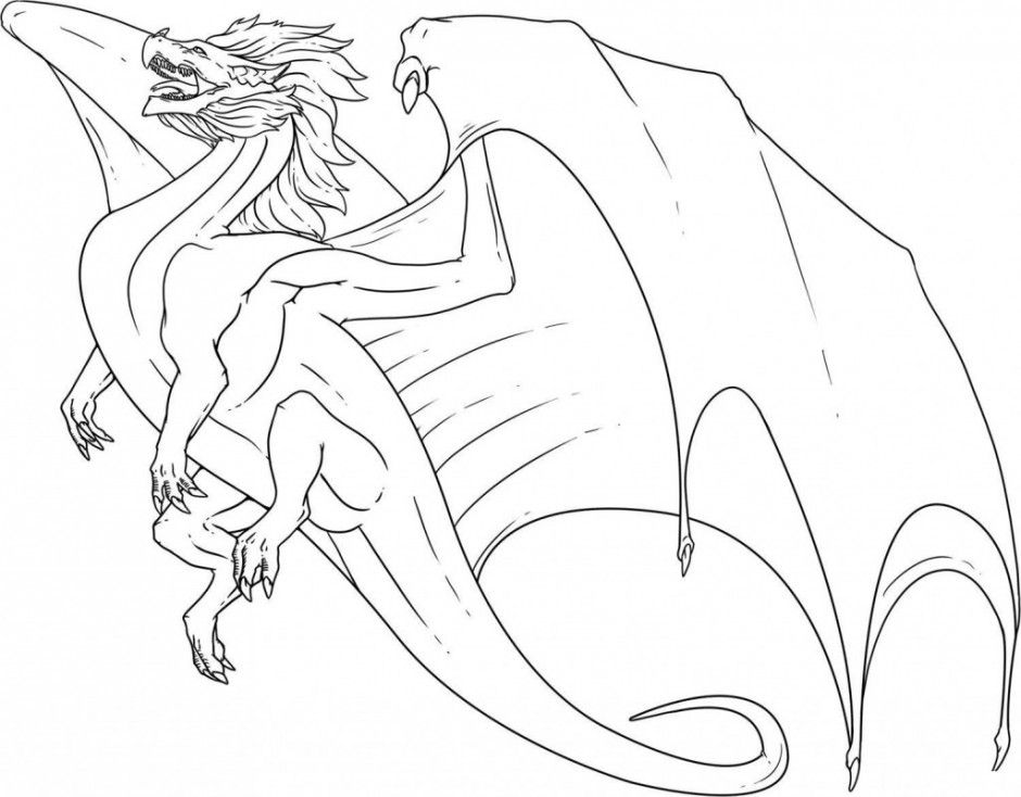 detailed dragon coloring pages - scary dragon coloring pages az coloring pages