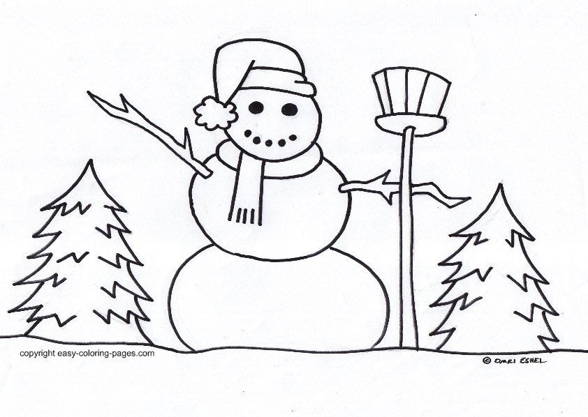 simple winter coloring pages - winter coloring pages free az coloring pages