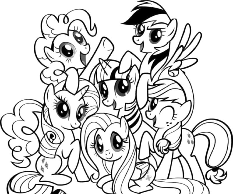 My Little Pony Coloring Pages : Rainbow Dash My Little Pony