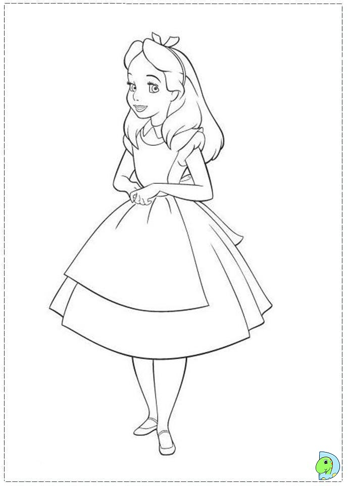 Alice and wonderland coloring pages az coloring pages for Coloring pages alice in wonderland
