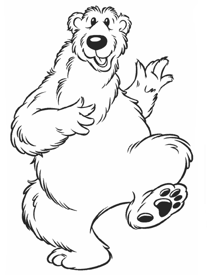 Bear In The Big Blue Coloring Page
