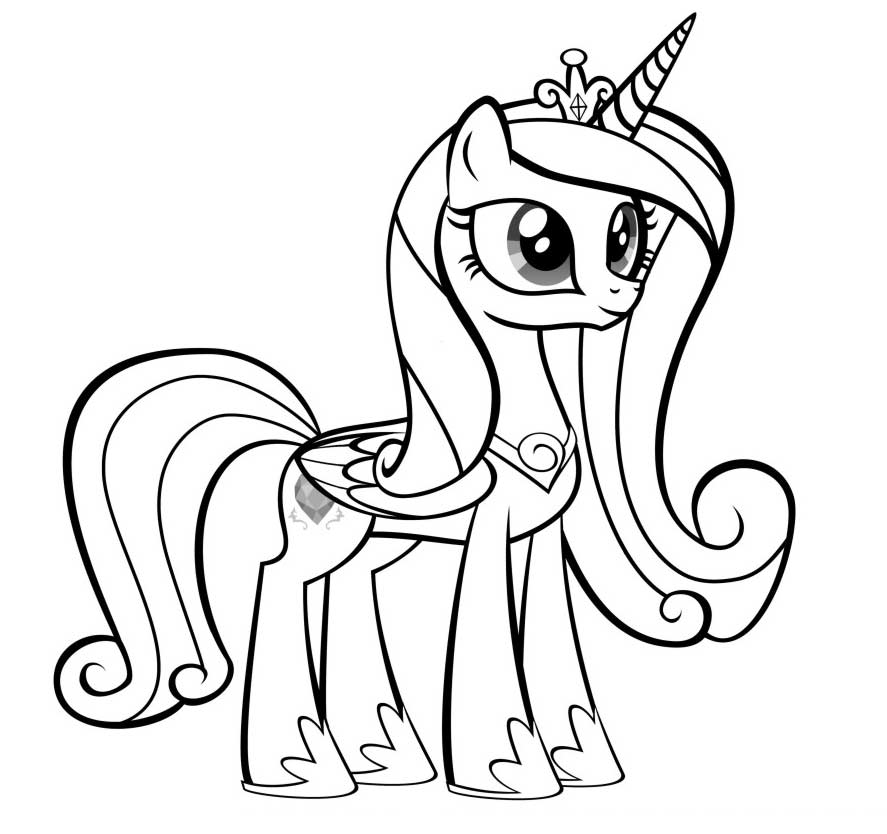 my little pony princess cadence coloring pages - princess cadence coloring pages coloring home