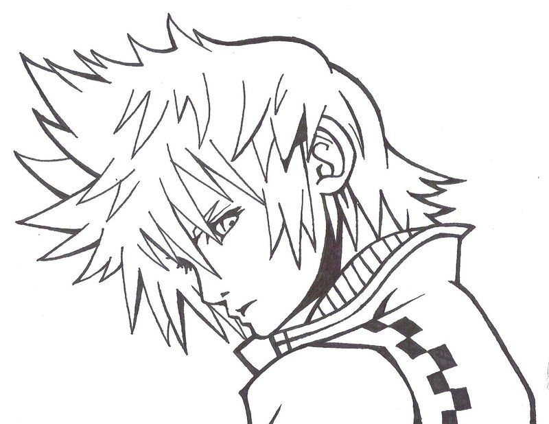 Roxas kingdom hearts free coloring pages for Kingdom hearts printable coloring pages