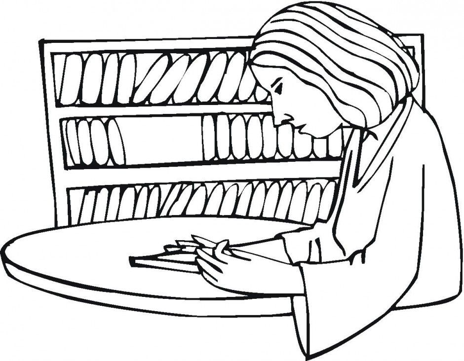 library related coloring pages - photo#29