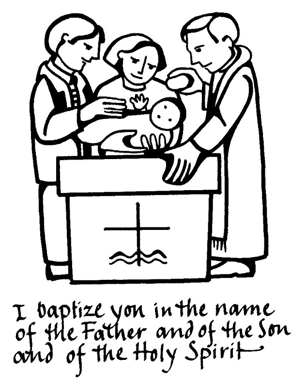 childrens coloring pages baptism - photo#3