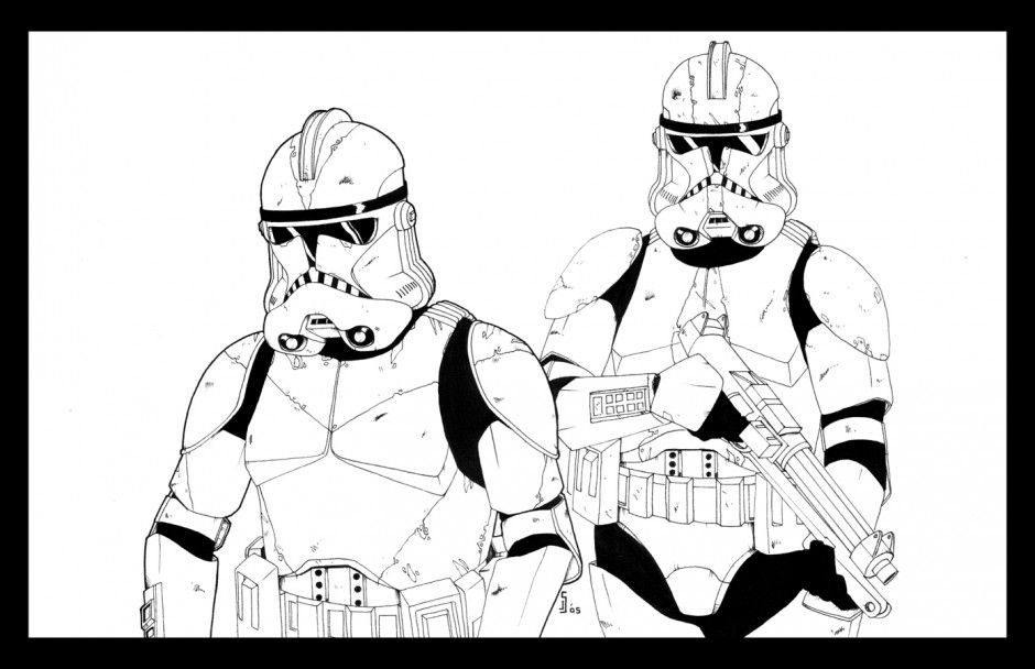 Viewing Gallery For Clone Wars Clone Trooper Coloring Pages 62419