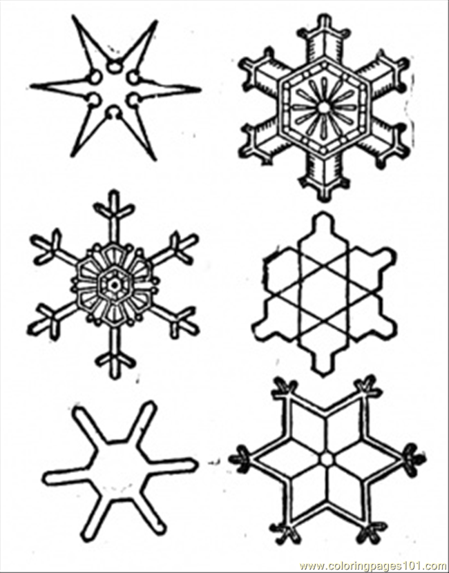Snowflake Coloring Page | Coloring Pages