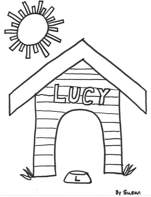 coloring book pages house - photo#22