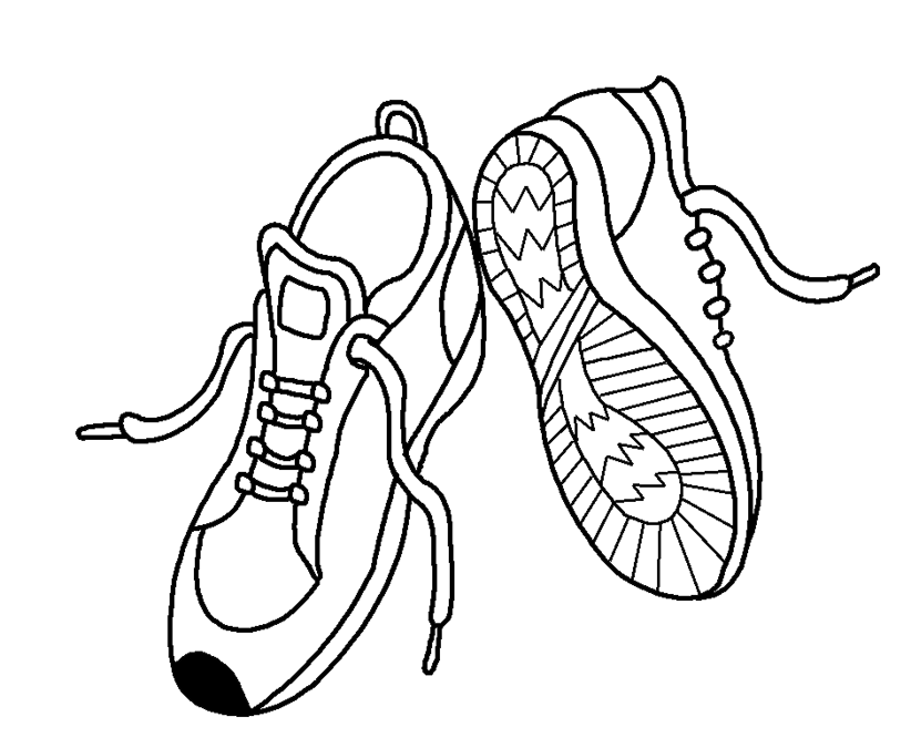 Раскраска ботинок без шнурка
