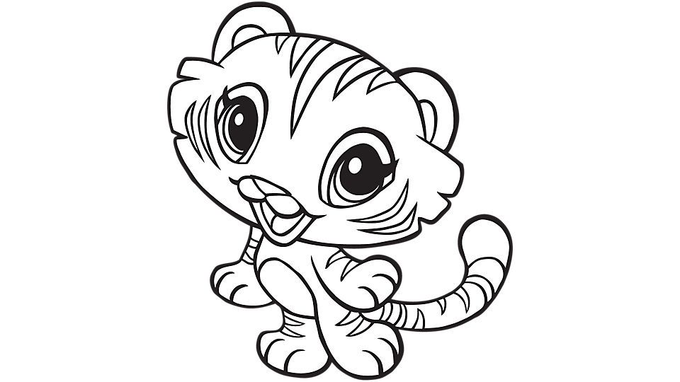 Cute Baby Tiger Coloring Pages - Coloring Home