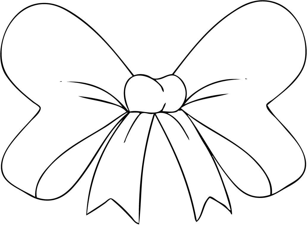 Bow Coloring Pages For Kids Az Coloring Pages Bow Coloring Page