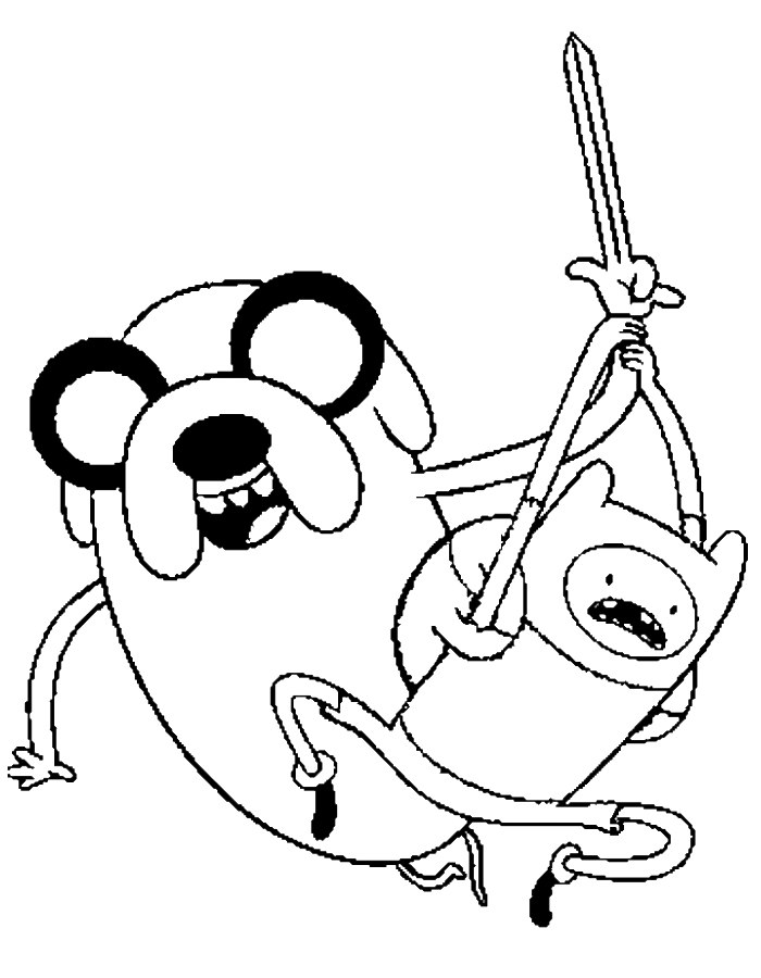 adventure time finn and jake attacked coloring pages adventure - Adventure Time Coloring Pages Jake
