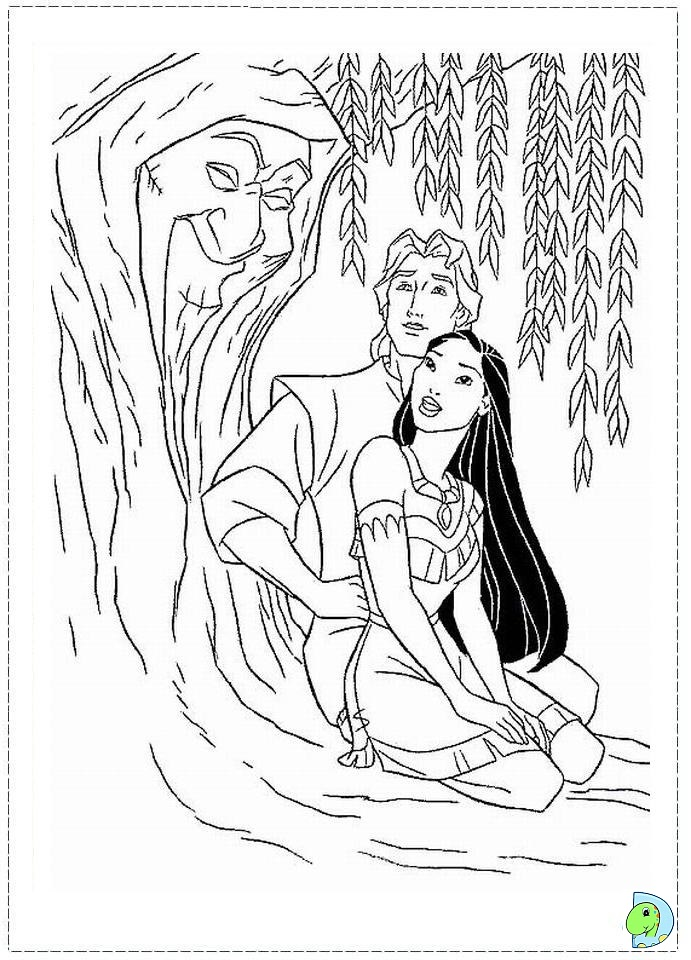 Disney Coloring Pages Come To Life : Disney pocahontas coloring pages az