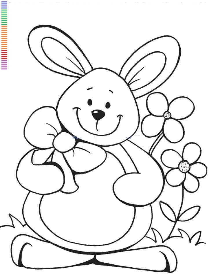 Bunny Rabbit Face - Coloring Home