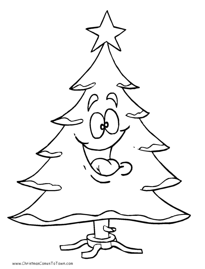 christmas tree outline coloring pages - photo#19