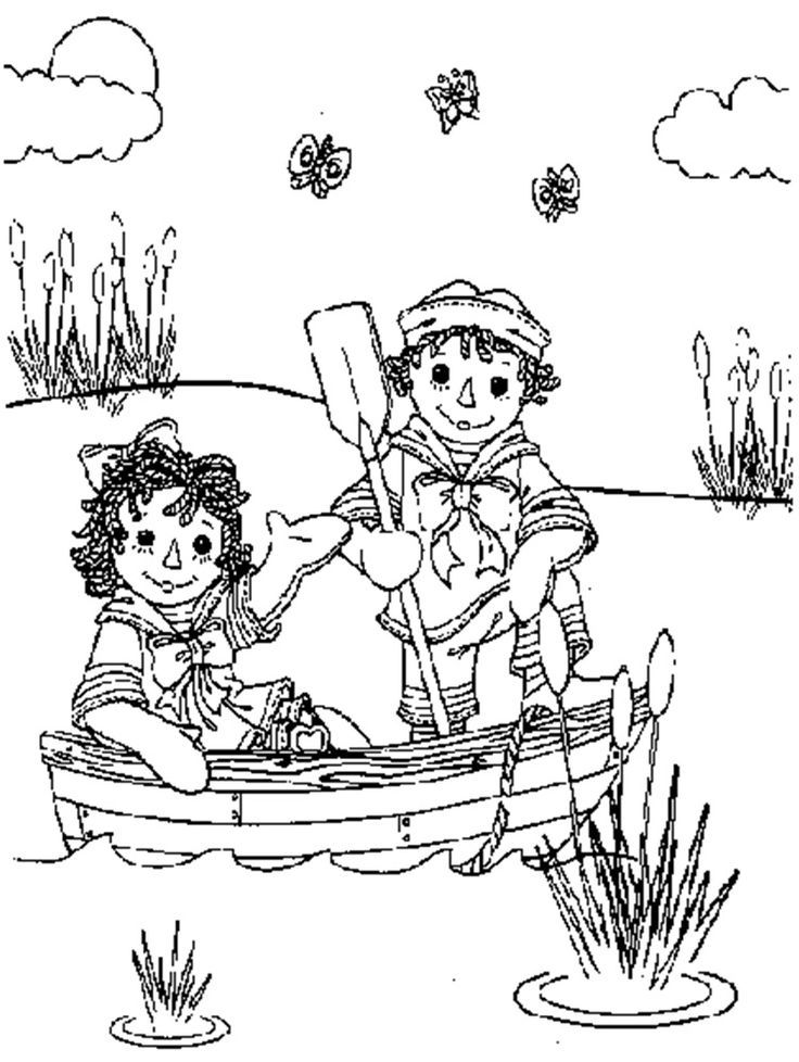 Raggedy ann andy coloring home for Raggedy ann and andy coloring pages