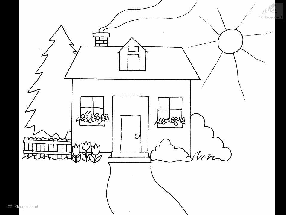 Coloring Pages Of A House  Coloring Home