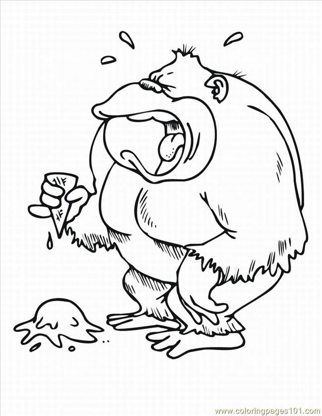 Coloring Pages Monkey Coloring Pages 3 Lrg (Mammals > Monkey
