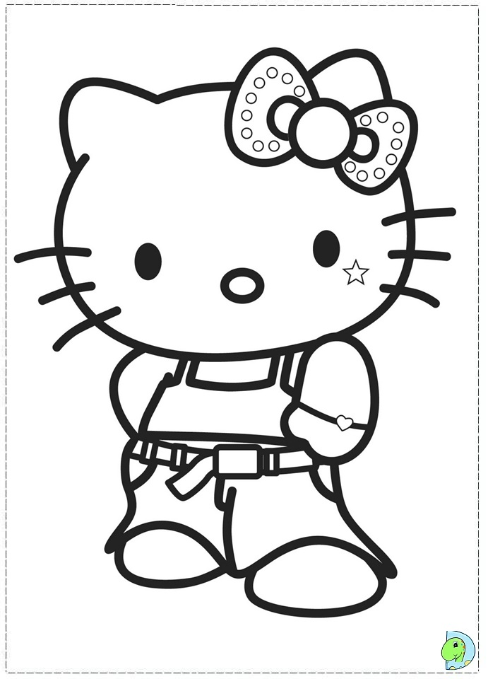 Simple Hello Kitty Coloring Pages : Easy to draw hello kitty az coloring pages