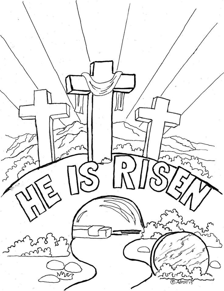Empty Tomb Coloring Page AZ Coloring Pages
