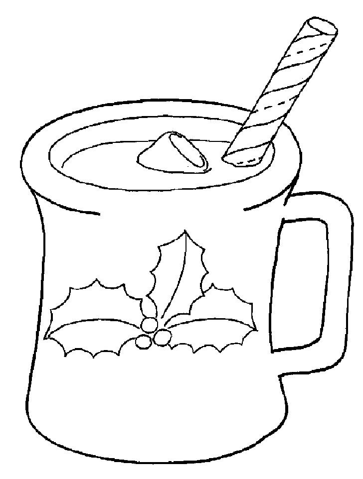 Hot chocolate coloring page az coloring pages for Hot chocolate coloring page