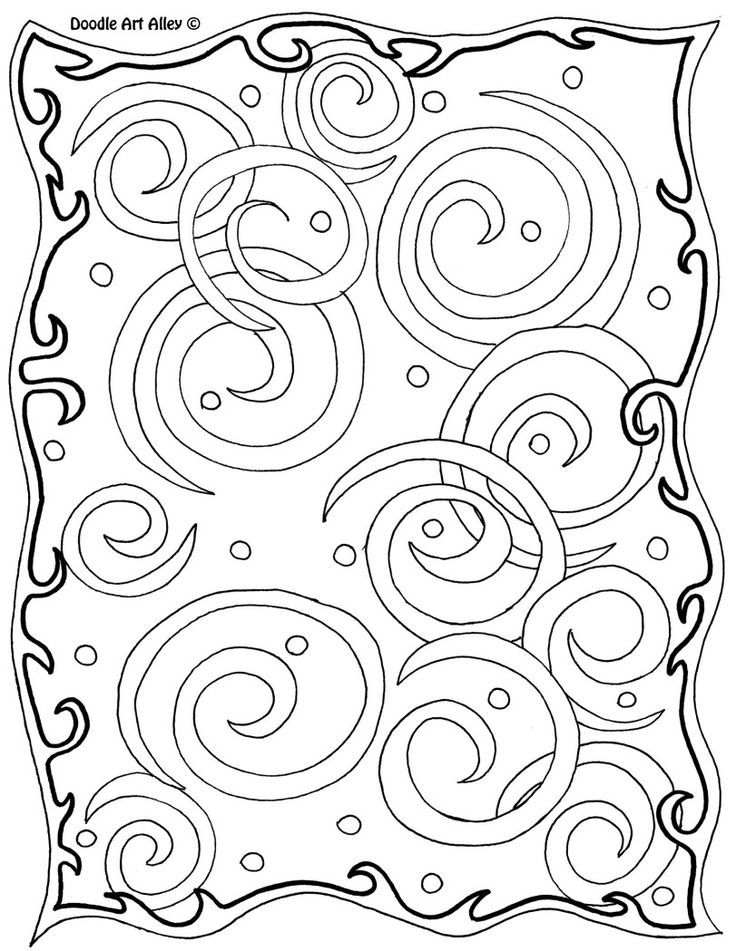 abstract doodle coloring pages - photo#15