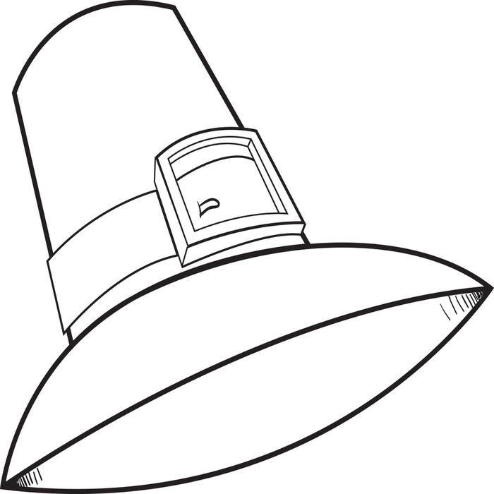 Pilgrim Hat Colouring Pages