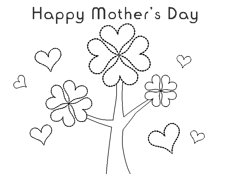 Happy Mothers Day Coloring Pages - Free Coloring Pages For