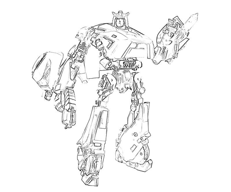 Transformer Bumblebee Coloring Page